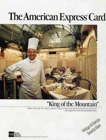 Lutece New York Ny Restaurant American Express (1987)