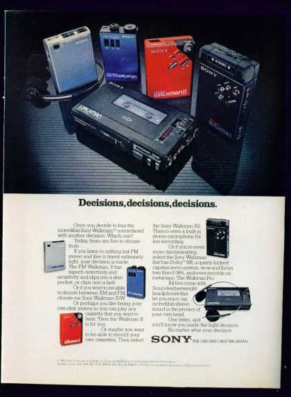 Sony Walkman – Decisions the One & Only Walkman (1982)