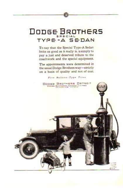 Dodge Brothers Car – Special Type A Sedan (1924)