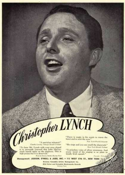 Christopher Lynch Photo Rare Opera (1950)