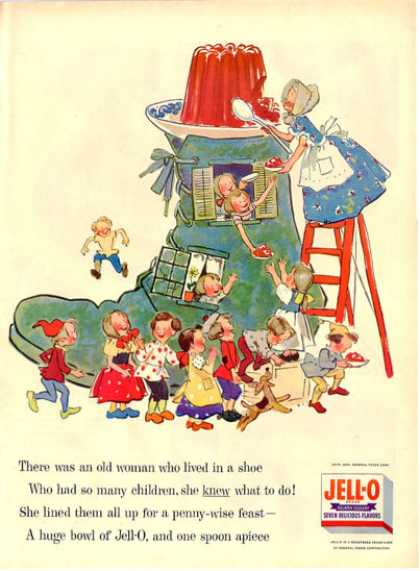 Jell-o Jello Old Women Lived In a Shoe Nursery (1955)