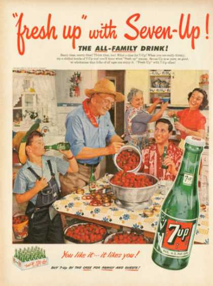 7up Seven Up Farm Canning Srawberries (1952)