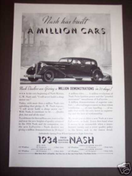 Nash Has Built a Million Cars Car (1934)
