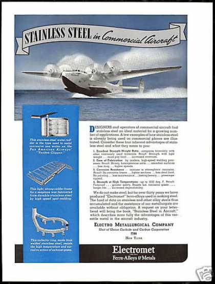 PAA Pan Am Airplane Yankee Clipper Electromet (1940)