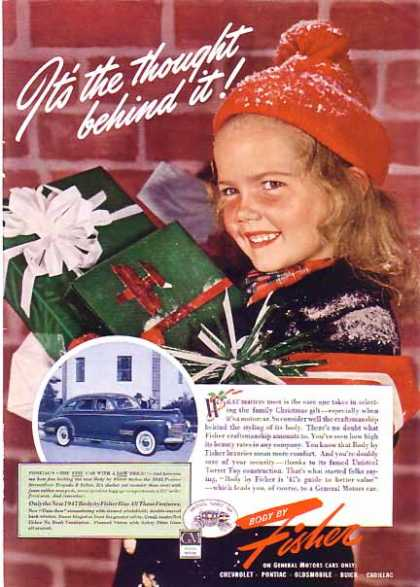 GM Body By Fisher Christmas – Pontiac (1940)