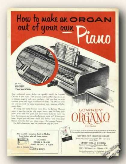 Lowrey Organo Make Organ Out of Piano (1954)