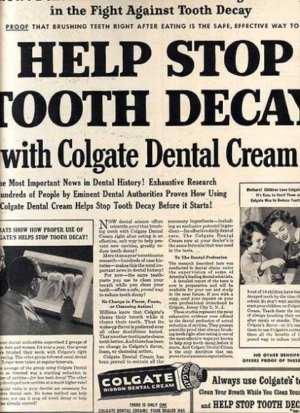 Colgate's Ribbon Dental Cream (1949)