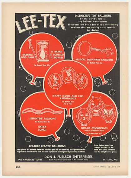 Lee-Tex Toy Balloons (1947)
