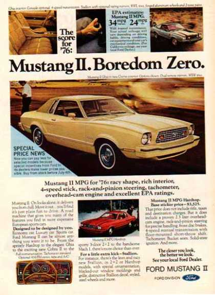 Ford Car – Mustang II – Yellow (1976)