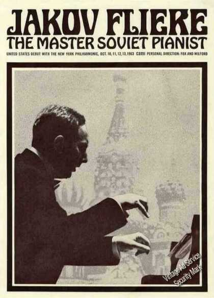 "Jakov Fliere ""Master Soviet Pianist"" Booking (1963)"
