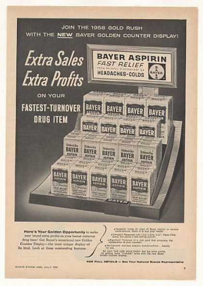Bayer Aspirin Counter Display (1958)