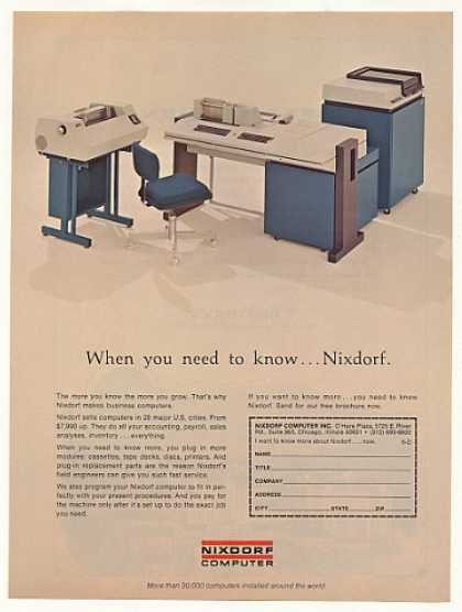 Nixdorf Business Computer System Photo (1973)