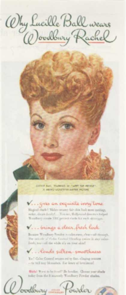 Woodbury Color Controlled Powder – Lucille Ball (1944)