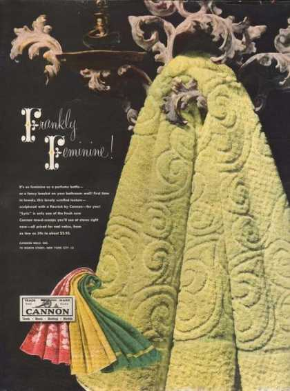 Cannon Frankly Feminine Towels (1949)
