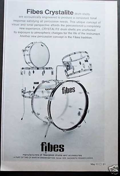 Fibes Crystalite Clear Drums (1972)