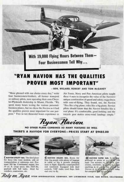 Ryan Navion Photos San Diego Ca (1950)