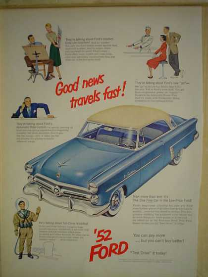'52 Ford Automobile Car Good news travels fast (1952)