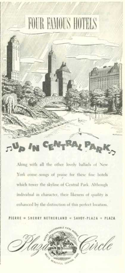 Plaza Circle Central Park Hotels (1945)