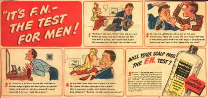 "Wildroot Company's Cream Oil – ""It's F. N.-The Test For Men (1945)"