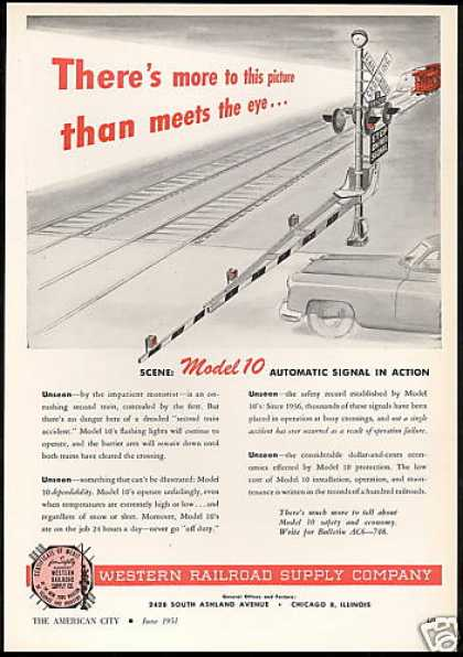 Western Railroad Train Automatic Signal (1951)