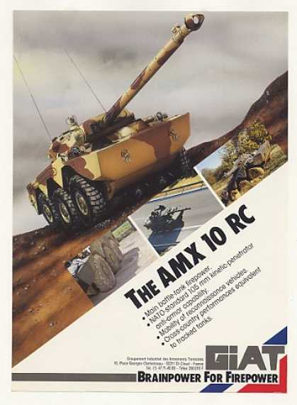 GIAT AMX 10 RC Military Battle Tank (1988)