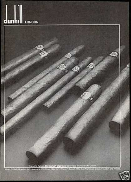 Dunhill London Montecruz Cigars Photo (1978)