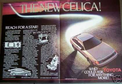 "Toyota ""New"" 1986 Model Celica Gts 2pg Fold-out (1985)"