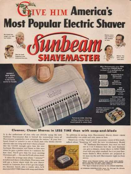 Sunbeam Shave Master Electric Shaver (1949)