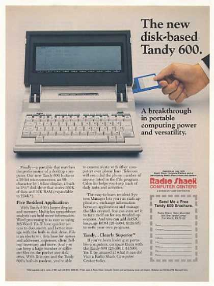 Radio Shack Tandy 600 Portable Computer (1986)