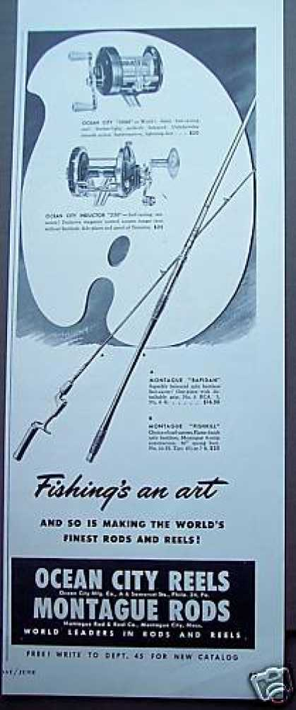 Montague Rods Ocean City Reels Fishing (1949)