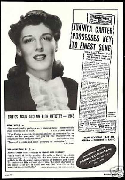 Juanita Carter Photo Reviews Bookings Co (1949)