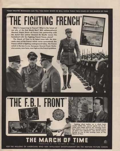 The Fighting French the F B I Front Movie (1942)