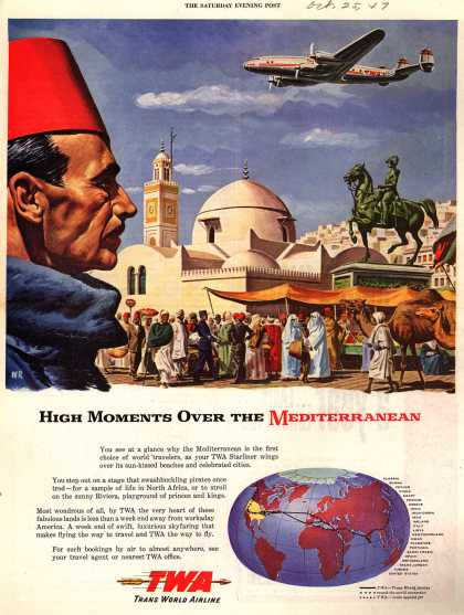 Trans World Airline's Mediterranean area – High Moments Over the Mediterranean (1947)