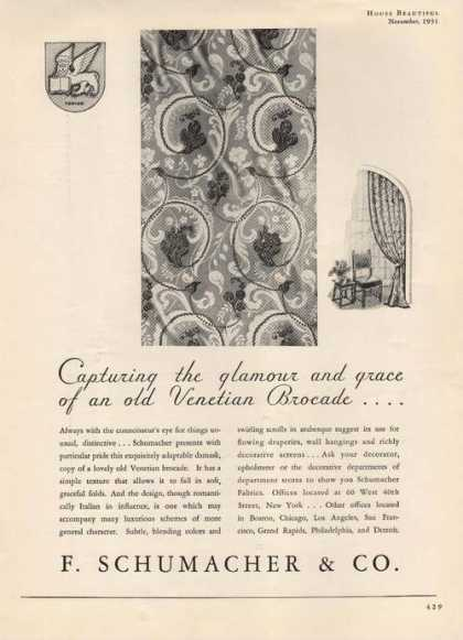 Flowing Draperies Wall Hangings (1931)