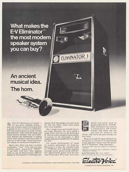 Electro-Voice E-V Eliminator 1 Speaker System (1970)
