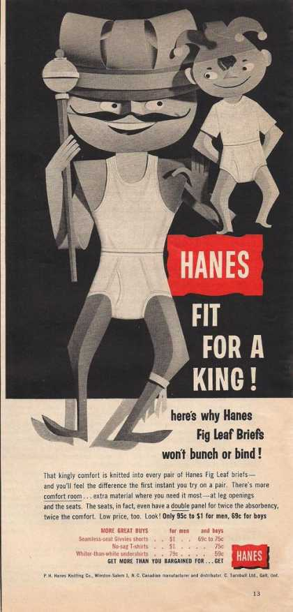 Hanes Fig Leaf Mens Briefs (1957)