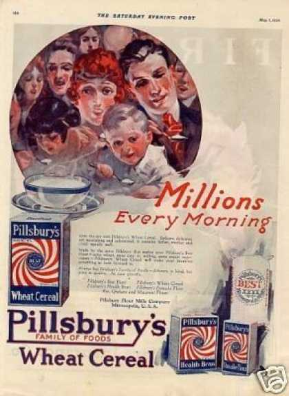 Pillsbury's Wheat Cereal Color (1920)