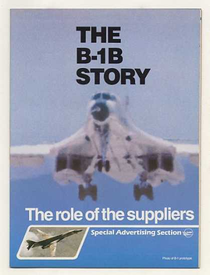B-1B Aircraft Story 60-Page Advertising Supplement (1983)