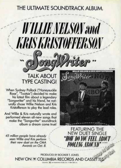 "Willie Nelson & Kris Kristofferson ""Songwriter"" (1984)"