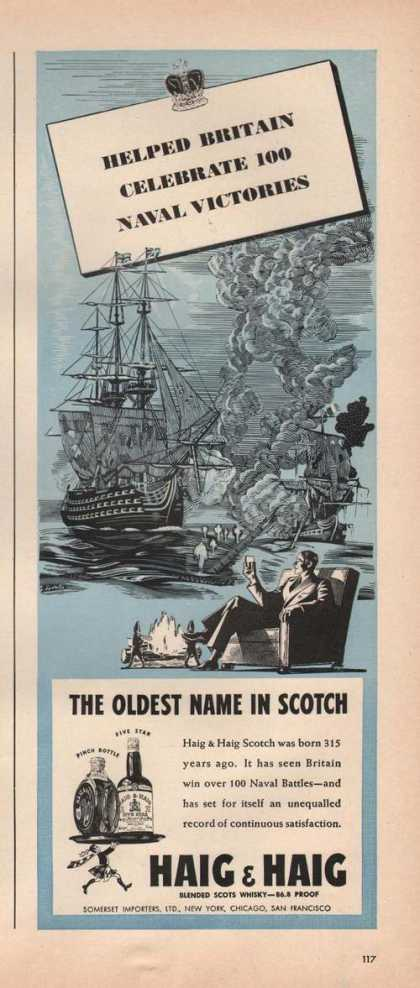 Naval Victories Scotch Haig & Haig (1942)