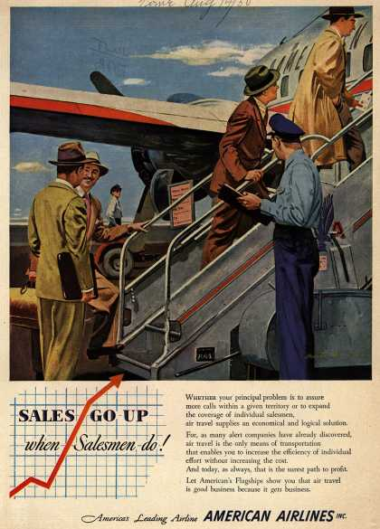 American Airline's American Flagships – Sales Go Up when Salesmen do (1950)