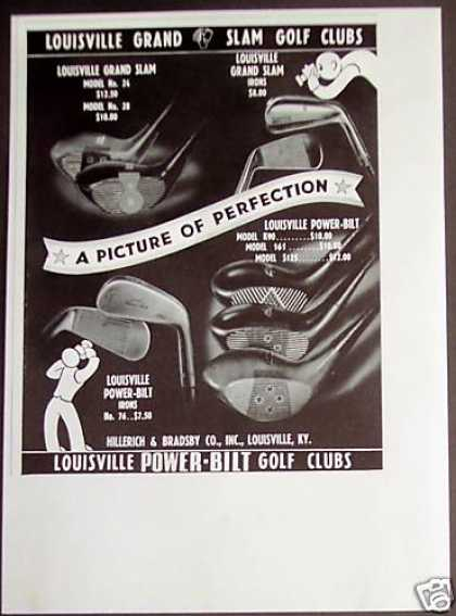 Louisville Grand Slam Golf Clubs (1941)