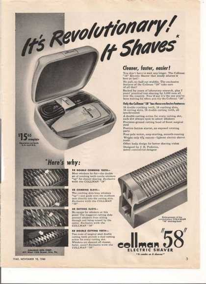 Collman Electric Shaver (1946)
