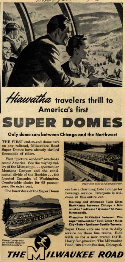 Milwaukee Road's Hiawathas – Hiawatha travelers thrill to America's first Super Domes (1953)
