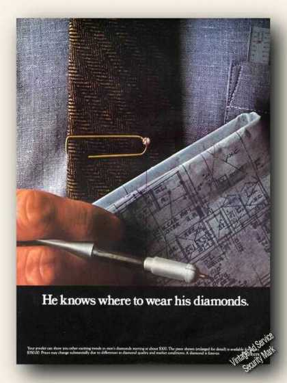 He Knows Where To Wear His Diamonds Debeers (1979)