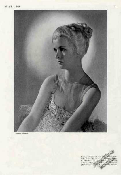 Joan Bennett Theatre Print Photo (1930)