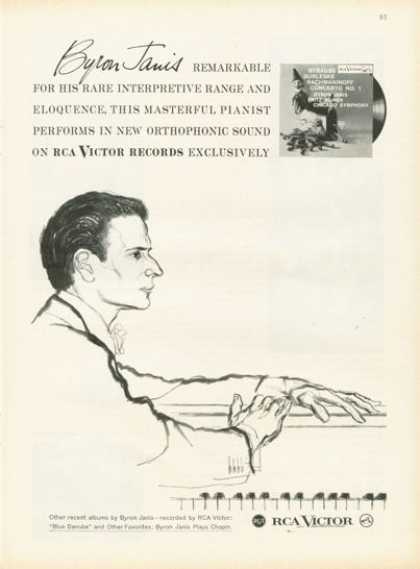 Rca Victor Records Ad Pianist Byron Janis (1958)