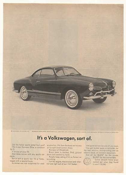 VW Karmann Ghia It's a Volkswagen Sort Of (1963)