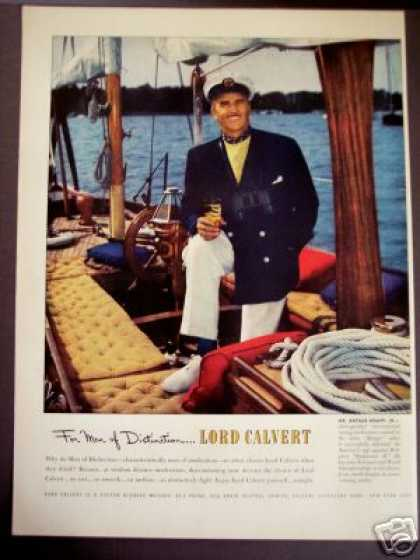 Arthur Knapp Jr Photo Lord Calvert Whisky (1950)