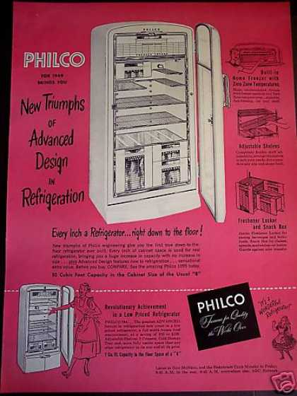 Philco Refrigerator for '49 Lrg Pink (1949)